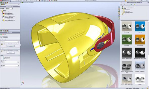 image of screen shot of SOLIDWORKS CAD