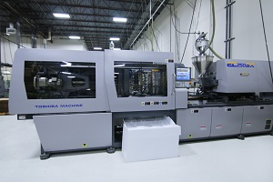 Picture of a Toshiba EC-SX injection molding machine.